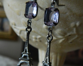 SALE 15% coupon code MARCH15 France Eiffel Tower Earrings by 58diamond