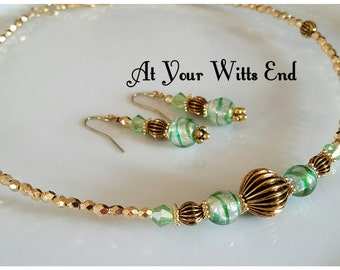 Wire Choker, gold jewelry