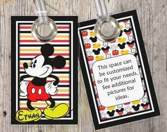 Mickey Mouse - Disney - Custom Tags for Backpacks, Luggage, Diaper Bags & More!