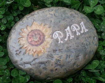 Custom - Pottery Garden Stone or Burial Grave Marker - Stoneware Clay - Pet Memorial