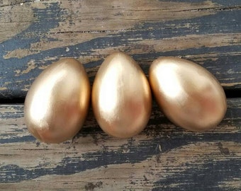 Decorative Easter Eggs, Easter Eggs, Metallic Eggs, Metal Leaf Eggs, Gold Eggs