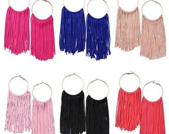 Annika Fringe Hoop Earrings