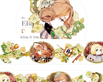 1 Roll of Limited Edition Washi Tape: Portrait of Elsa