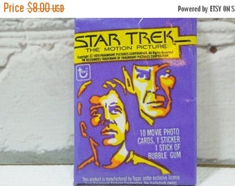 ON SALE Vintage Trading Cards.  Star Trek The Motion Picture. 1979. Kirk. Spock. Bones. Sulu. Scotty. Uhura. Great Sci-Fi TV Shows.