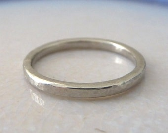 Palladium band ring - 2mm - Hammered or Smooth - Elegant palladium wedding ring