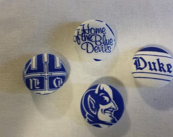 "7/8"" Duke Fabric Buttons - Set of 2 - There will be 2 different buttons shipped at random"