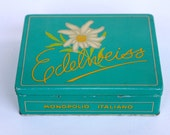 RESERVED Edelweiss cigarette tin