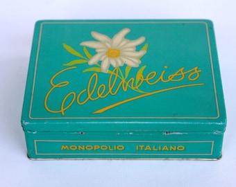 Edelweiss cigarette tin