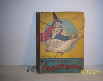 1920-40's Mother Goose Nursery Rhymes Charles Graham & Co NY Children's Book