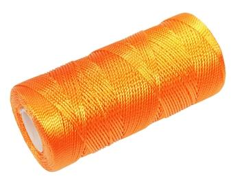 15 Meters Macrame Thread - Nylon Cord Not Waxed - Crochet Thread - Light Orange