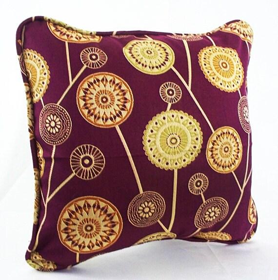 Burgundy Throw Pillow Burgundy Pillows Burgundy And Gold