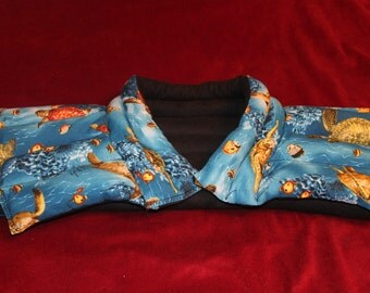 Heating/Ice Pad -Neck and Shoulder Wrap- Aromatherapy - Herbal - Sea Turtles