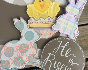 Easter attachments for cross door hanger