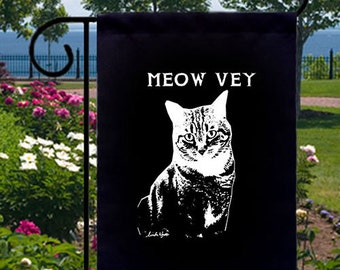 Meow Vey Cat New Black Small Garden Flag Decor Gifts Events Fun