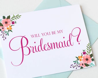 Floral Will You Be My Matron of Honor Card | Matron of Honor Gift | Matron of Honor Proposal | Matron of Honor Card | Wedding Card | LM23