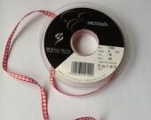 Christmas Red Gingham Ribbon - 5mm - 5 metres Berisfords BLACK FRIDAY