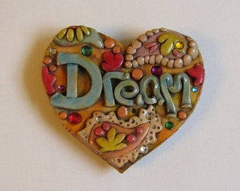 Jeweled Dream Rustic Paisley Refrigerator Magnet