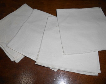 Set of 4, Natural Country Look Napkins