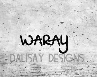 Waray Vinyl Decal