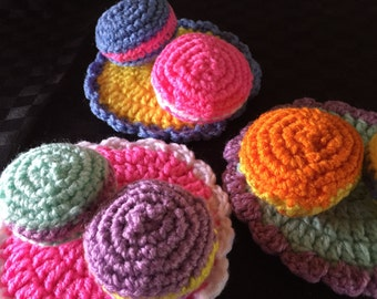 Play Food -Crocheted Macarons