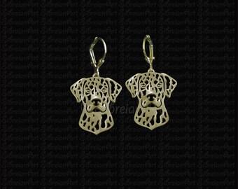 Catahoula Leopard Dog earrings - Gold