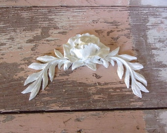 wood appliques for furniture. shabby chic furniture appliques architectural leaves w rose paintable stainable flexible wood for