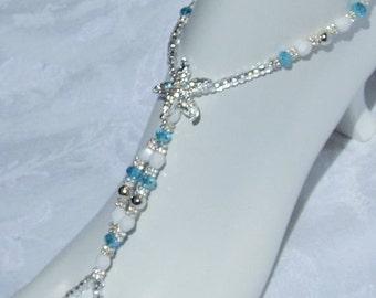 Starfish Barefoot Sandals Crystal Foot Jewelry Anklet Foot Thong Barefoot Sandles Bridal Foot Jewelry