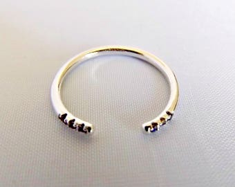 Rings for women, midi ring, midi rings, knuckle ring, sterling silver ring, gold ring, stackable ring, stacking ring, gift for her