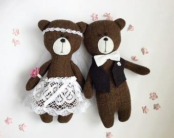 Bear, bears, wool bear, wedding, bride and groom,