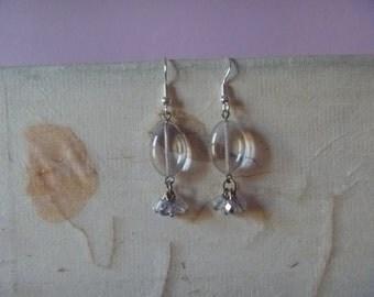 beaded dangle earrings, ecofriendly beaded earrings