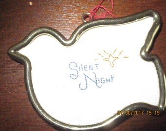 Silent Night Christmas Tree Ornament