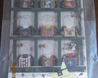 Primitive Candle Carriers Pattern