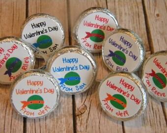 Valentine Party Favors - Personalized Valentine Hershey Kisses -  Valentine's Day Hershey Kiss Stickers - Valentine Decor - Valentine's Day