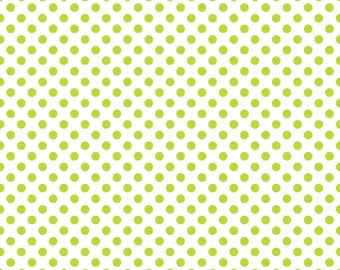 Polka Dot Fabric/Lime Green, Purple, Orange, Pink Basic/Riley Blake/Cotton Material/Quilting, Crafts/Fat Quarter, Half or, By The Yard