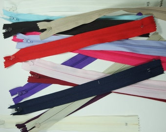 Zips - 10 inch (25cms) Pack of Fifteen