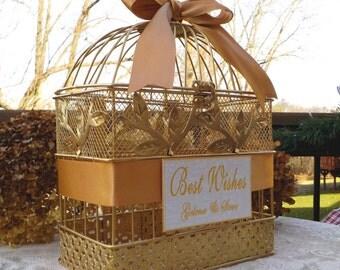 Bridal Shower Card Box Birdcage, Wedding Bird Cage, Wedding Card Holder, Wedding Supplies, Shower Supplies, Shower Decor, Baby Shower Cards