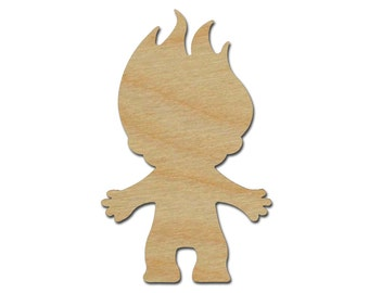 Troll Shape Variety of Sizes Unfinished Wood Craft Cutouts Artistic Craft Supply