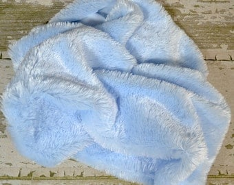 Baby Blue Fur Layering Piece For Newborn Photo Shoot, Newborn Photo Prop, Infant Photo Prop, Ivory Fur Photo Prop, Ivory Fur for Photography