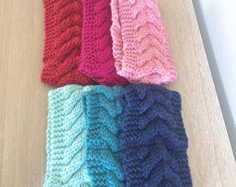 Cable Knit Headband Ear Warmers