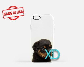 Rottweiler Puppy iPhone Case, Dog iPhone Case, Dog iPhone 8 Case, iPhone 6s Case, iPhone 7 Case, Phone Case, iPhone X Case, SE Case New