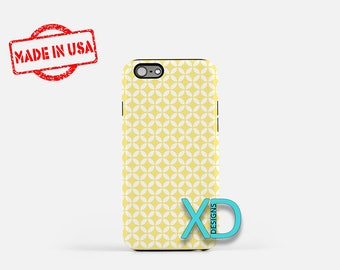 White Lattice Phone Case, White Lattice iPhone Case, Diamond iPhone 7 Case, Yellow, Diamond iPhone 6 Case, Lattice Tough Case, Clear Case