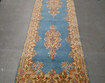 Persian Rug - 1970s Vintage, Hand-Knotted, Kerman Runner (3130)