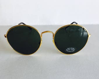 Vintage Gold Round Sunglasses