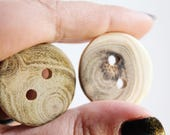 Set of 5 wooden buttons - eco friendly buttons - made in Ukraine