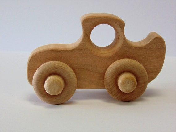 Natural Wood Toy Coupe Car
