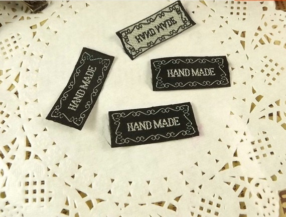 30 handmade label tag clothes fabrics crafts craft for Custom tags for crafts