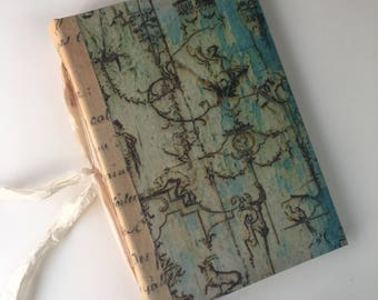 Ivory and Blue Baroque Style Journal, Book of Shadows, Unique Wedding Book, Junk Journal, Boho Journal, French Chic Journal, Memory Keeper