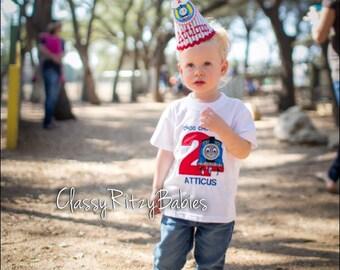 Train Birthday Shirt, Thomas Birthday Shirt, Second Boy Birthday Shirt, Choo Choo Birthday Outfit