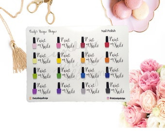 Paint Nails//Functional Stickers//Planner Stickers