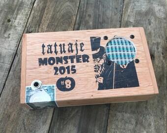 Cigar Box Bluetooth Speaker, Guitar Amplifier, Wired Speaker, Handmade Portable Amp - Tatuaje Monster 2015